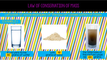 Law of Conservation of Mass Powerpoint and Notes Page