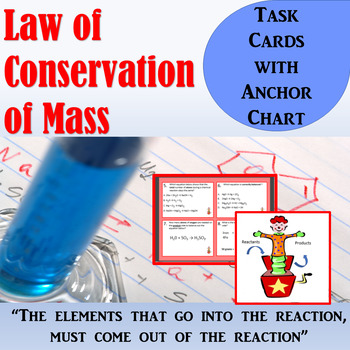 Law of Conservation of Mass Task Cards
