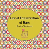 Law of Conservation of Mass Worksheet