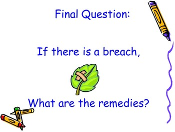 Law of Contracts Lesson Three - Remedies for Broken Contracts