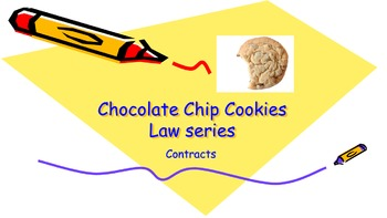 Law of Contracts at Cookies Cafe - Lesson One Contracts