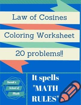 Law of Cosines Coloring Worksheet