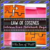 Law of Cosines: Interactive Notebook Pages