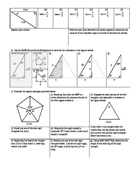 Law of Cosines Solving for Angles Spring 2014 (Editable)