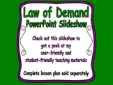 Law of Demand PowerPoint Slideshow