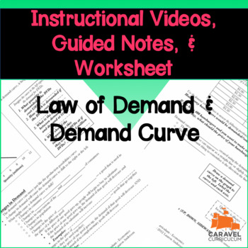 Law of Demand and Demand Curve Instructional Videos and Guided Notes