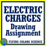 Law of Electric Charge Drawings Assignment Middle School NGSS MS-PS2-3 MS-PS2-5