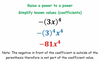 Law of Exponents (Exit Cards)