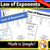 Law of Exponents Foldable Notes
