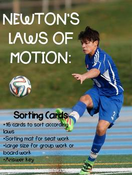Law of Motion Sorting Cards