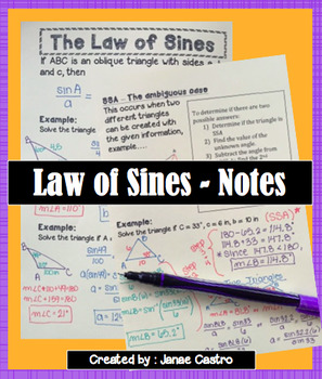 Law of Sines - Notes