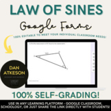 Law of Sines | 2 Similar Self-Grading Trigonometry Google Forms™