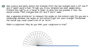 Law of Sines Activity with Wikki Stix for Geometry Students
