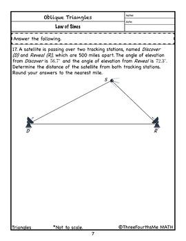 Law of Sines: Classwork/Homework
