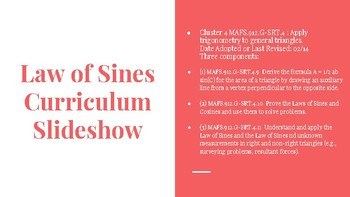 Law of Sines Curriculum Slideshow