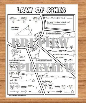 law of sines doodle notes by joan kessler teachers pay teachers. Black Bedroom Furniture Sets. Home Design Ideas