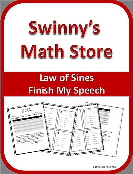 Finish My Speech: Law of Sines