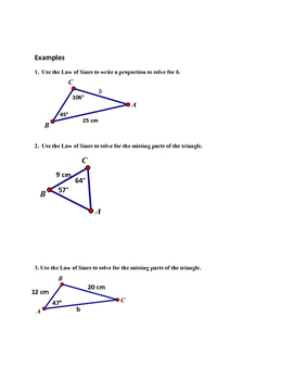 Law of Sines Guilded Notes