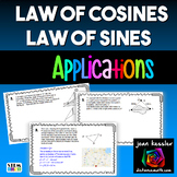 Law of Sines and Law of Cosines Applications for PreCalculus and Trigonometry