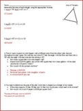 Law of Sines, Law of Cosines, Area of Nonright Triangles (WS)