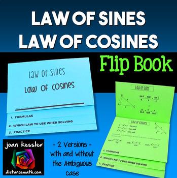 Law of Sines Law of Cosines Flip Book