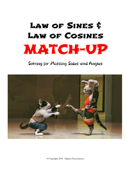 Law of Sines & Law of Cosines Partner Worksheet Match-Up