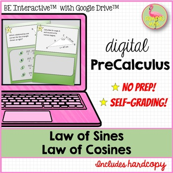 PreCalculus: Law of Sines & Cosines Sum Up Activity - Google Edition