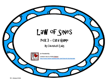 Law of Sines - Pick 3 Card Game