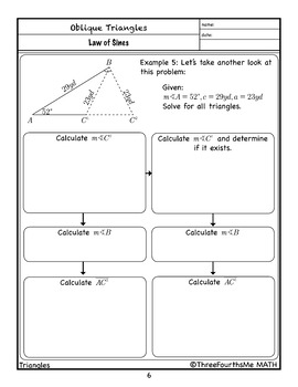 Law of Sines: Scaffolded Notes