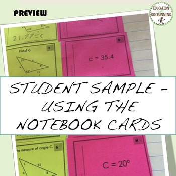 Law of Sines  Task Card Activity