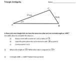 Law of Sines - Triangle Ambiguity