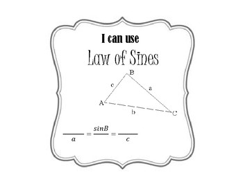Law of Sines and Cosines Printables