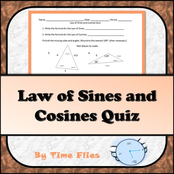 Law of Sines and Cosines Quiz