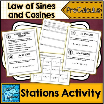 Law of Sines and Cosines Stations Activity