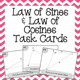 Law of Sines and Cosines Task Cards