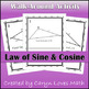 Law of Sines and Cosines Unit Bundle~Foldable~Ambiguous Case~Activities~Posters