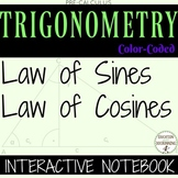 Law of Sines and Law of Cosines Color Coded Interactive Notebook 4 Trigonometry