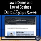 Law of Sines and Law of Cosines Digital Escape Room Activity