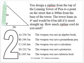 Law of Sines and Law of Cosines - Geometry Clue - Review Game