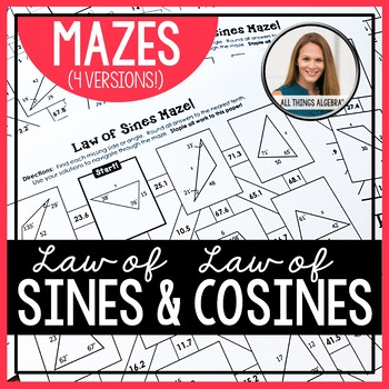Law of Sines and Law of Cosines Mazes