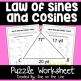 Law of Sines and Law of Cosines  - Puzzle Worksheet