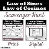 Law of Sines and Law of Cosines SCAVENGER HUNT | Digital a