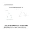 Law of Sines and Law of Cosines Trigonometry Test with Answer Key