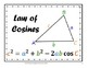 Law of Sines and Law of Cosines - Walls That Teach - 8 Trig Posters