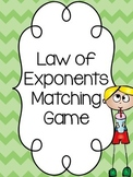 Law of exponents matching game