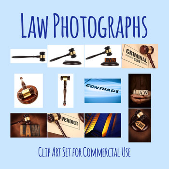 Law or Legal Theme Court Photos / Photograph Clip Art Set Commercial Use