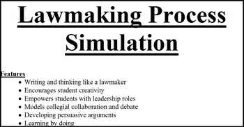 Lawmaking Process Simulation