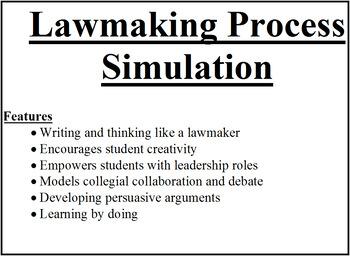 Lawmaking lesson bundle