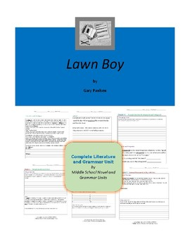 Lawn Boy Complete Literature and Grammar Unit