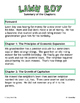 Lawn Boy Literature Study: Test, Vocabulary, Activities, Economic Terms, MORE!